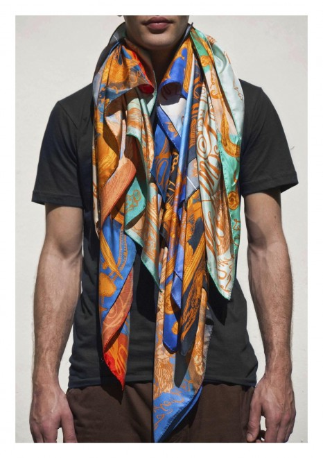 Kanye West Launches New Line of Silk Scarves