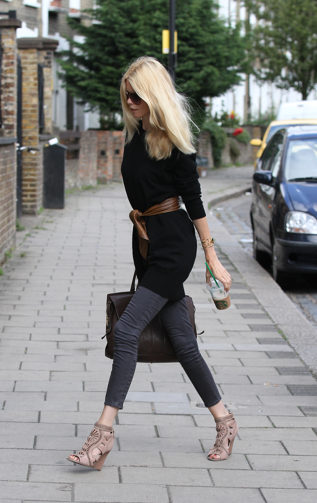 Steal Her Style Claudia Schiffer S Cut Out Wedges Flare