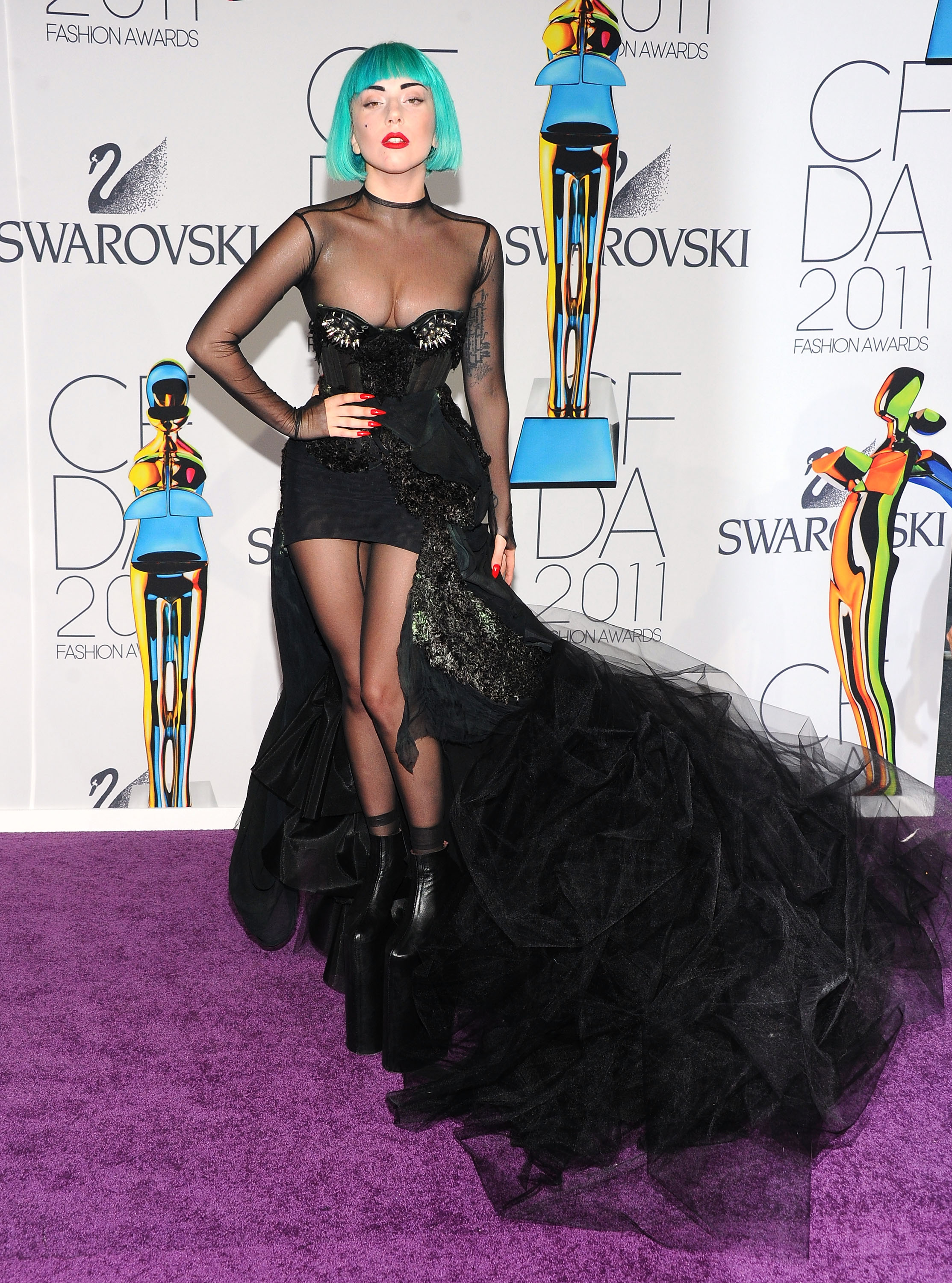 Fashion Celebrities And Wardrobe Malfunctions At The Cfda