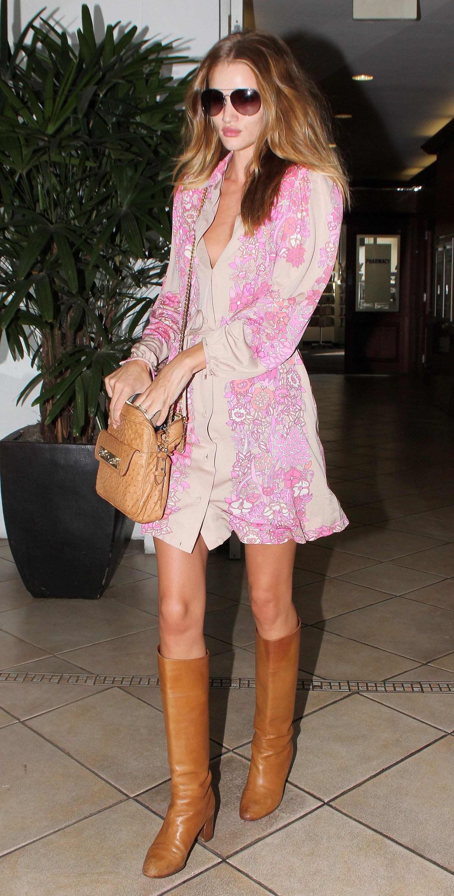 Steal Her Style: Rosie Huntington-Whiteley's Sleek Knee-High Boots