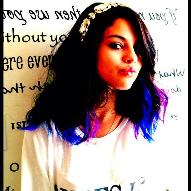 Selena Gomez Purple Hair