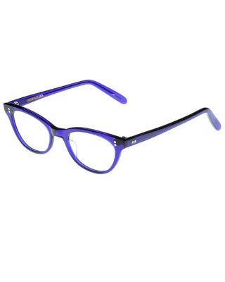 Eyewear: Cat Eye Glasses Cutler and Gross purple frames