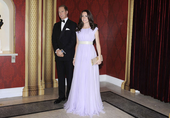Wax-figures-of-Prince-William-and-Catherine-Duchess-of-Cambridge-Prince-William-and-Catherine-Duchess-of-Cambridge-waxworks-unveiled-at-Madame-Tussauds_-
