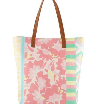 Summer 2012 Fashion Under $100: Aldo pastel floral and geometric printed tote