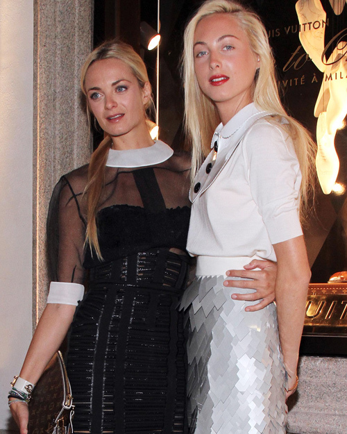 Beautiful Celebrity Sisters: Virginie and Claire Courtin-Clarins