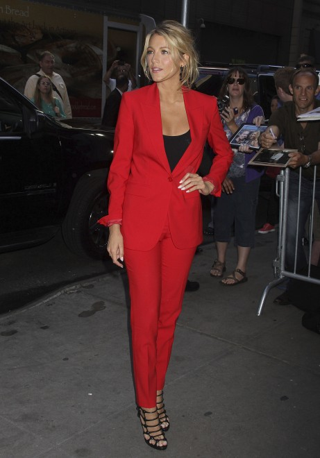 The Hot Red Suit: Blake Lively & Rihanna Work The Trend