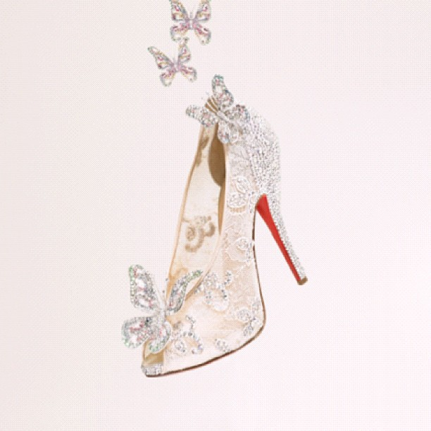 Christian Louboutin Reimagines Cinderella's Glass Slipper