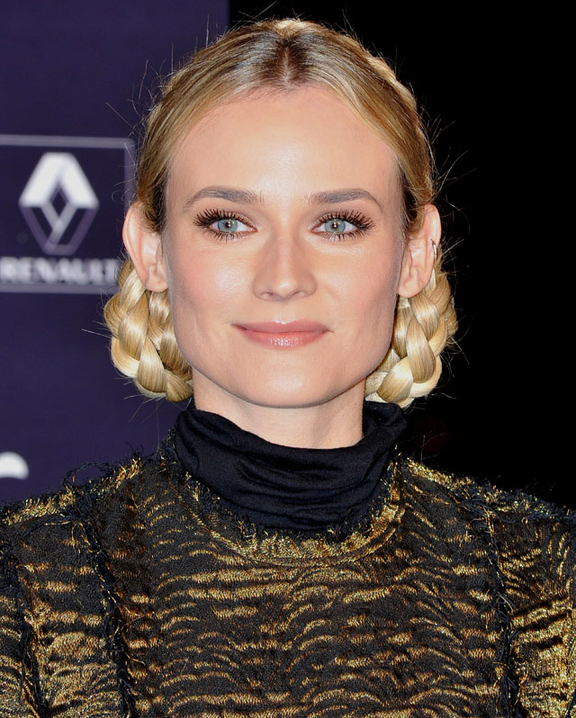 Hairstyle of the Week: Diane Kruger's Braided Updo