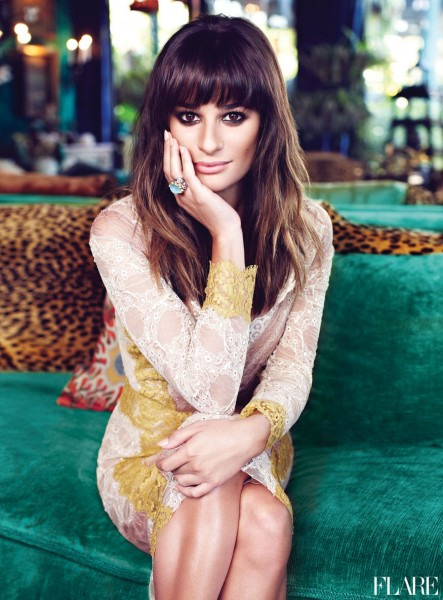 Flare January Cover Story Glee's Lea Michele