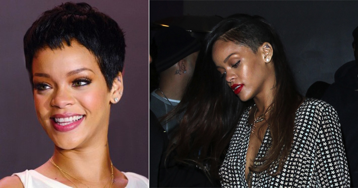 Rihanna Pixie, Rihanna Extensions and Shaved Section, Hair