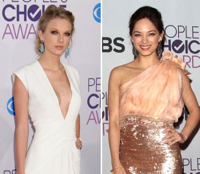Red Carpet, Taylor Swift and Kristin Kreuk at People's Choice Awards 2013