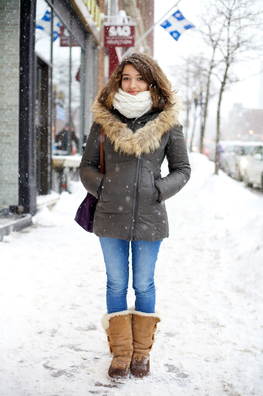 Montreal Street Style Fashion Winter 2013 Flare