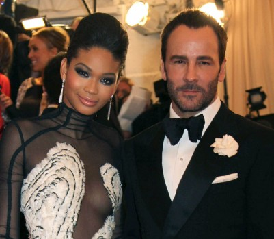 Chanel Iman and Tom Ford