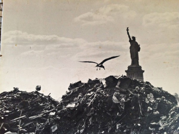 Shavitz's shot of the Statue of Liberty rising from trash helped stoke the public's eco-awareness