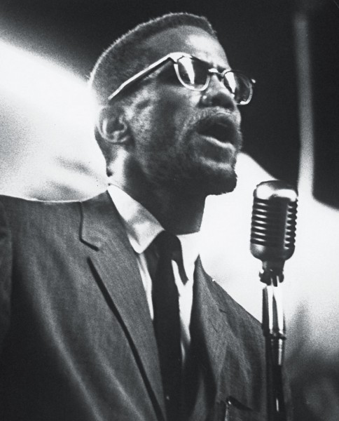 His portrait of Malcolm X