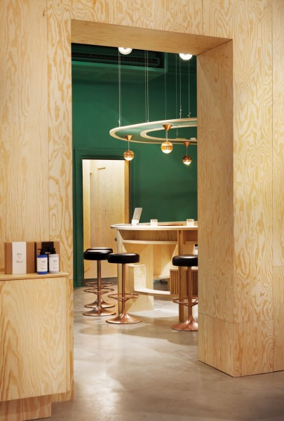 Dayspa's minimalist reception; Photo Courtesy of Dayspa