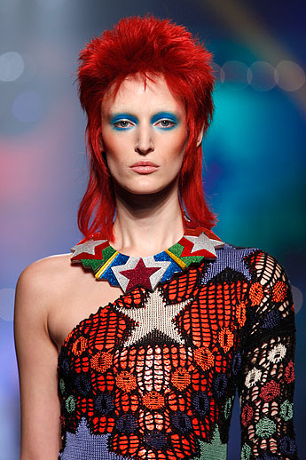 Celebrities with rocker hair 2013 flare jean paul gaultier fallwinter 2013 at paris fashion week photo by anthea urmus Image collections