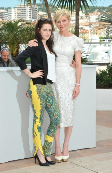 Kristen Stewart and Kirsten Dunst at Cannes 2012; Photo by Keystone Press