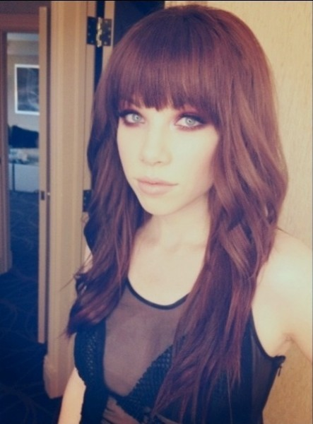 Carly Rae's redhead debut; Photo courtesy of Andrea Tiler
