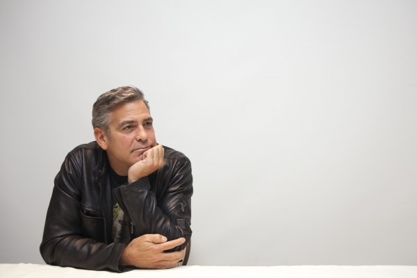 George Clooney attends 'The Monuments Men' Junket - Los Angeles