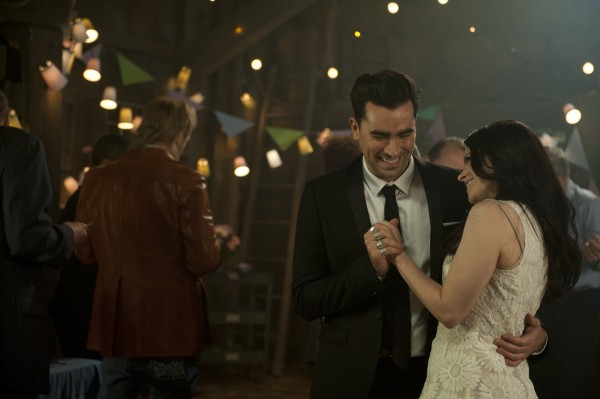 Dan Levy and Emily Hampshire (Courtesy of CBC)