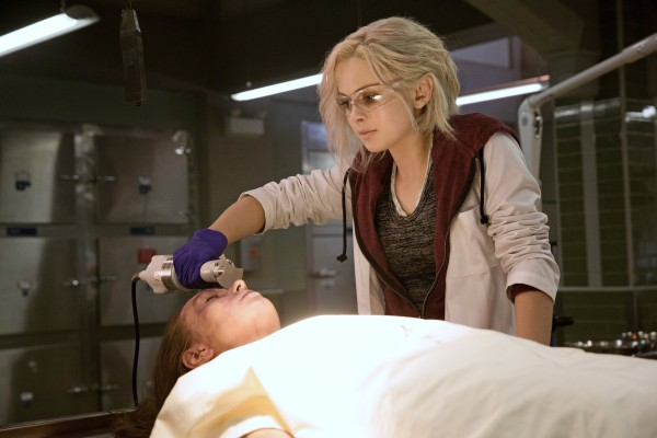 Rose McIver hard at work in the morgue on <i>iZombie</i>