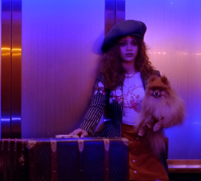 "<p>We<em> still</em> don't know how we feel about Rihanna's directorial debut, but the fact that we can't stop thinking about ""BBHMM"" can only mean that she got what she wanted: people talking. Plus, her outfits are killer (no pun intended), whether she's mixing a pinstriped duster over a button-down mini and thigh boots like a deranged school girl, or chokers, bandanas and badass denim like the '90s throwback of our dreams.</p>"
