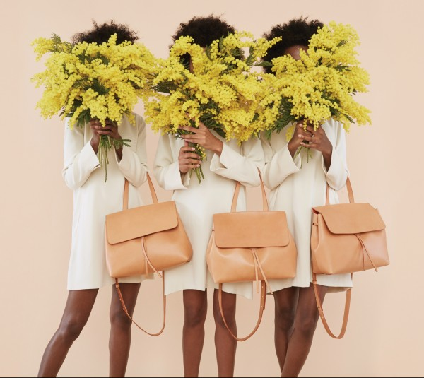 Step & Repeat: A shot from Mansur Gavriel's whimsical fall '15 campaign, featuring the new Lady bag