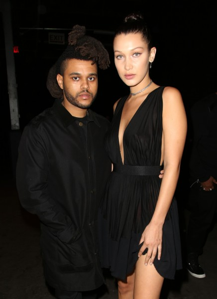 THE WEEKND AND BELLA HADID AT ALEXANDER WANG'S SS16 SHOW (PHOTO: MATTHEW BARON/BEIMAGES)