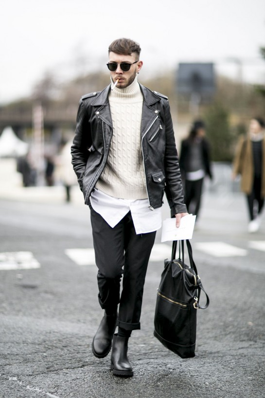 e170463c4be All the Best Street Style From Men s Fashion Week FW16 - Flare