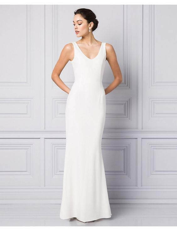 12 Plain Wedding Dresses for the Minimalist Bride - FLARE