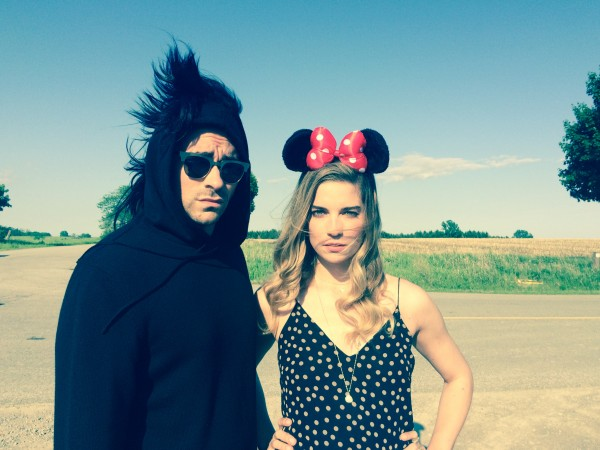Murphy and Levy on the set of Schitt's Creek