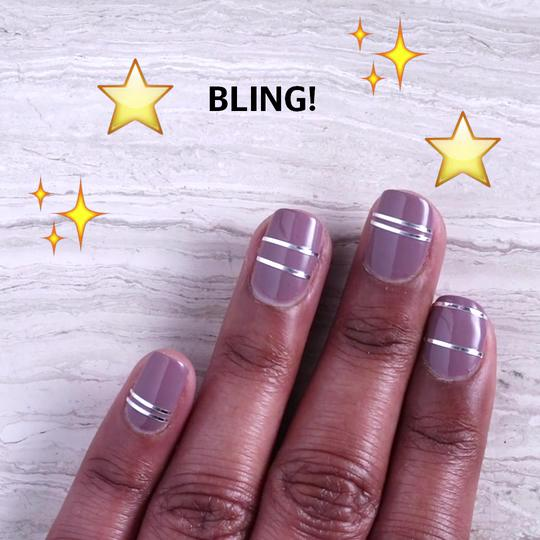 Metallic Stripe Nails: How to Get the Look