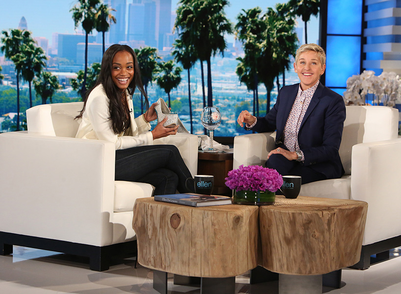 Rachel Lindsay from The Bachelostopped by The Ellen DeGeneres Show this morning for a quick interview