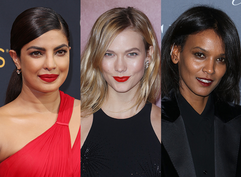 Priyanka Chopra, Karlie Kloss and Liya Kebede in perf bold lips