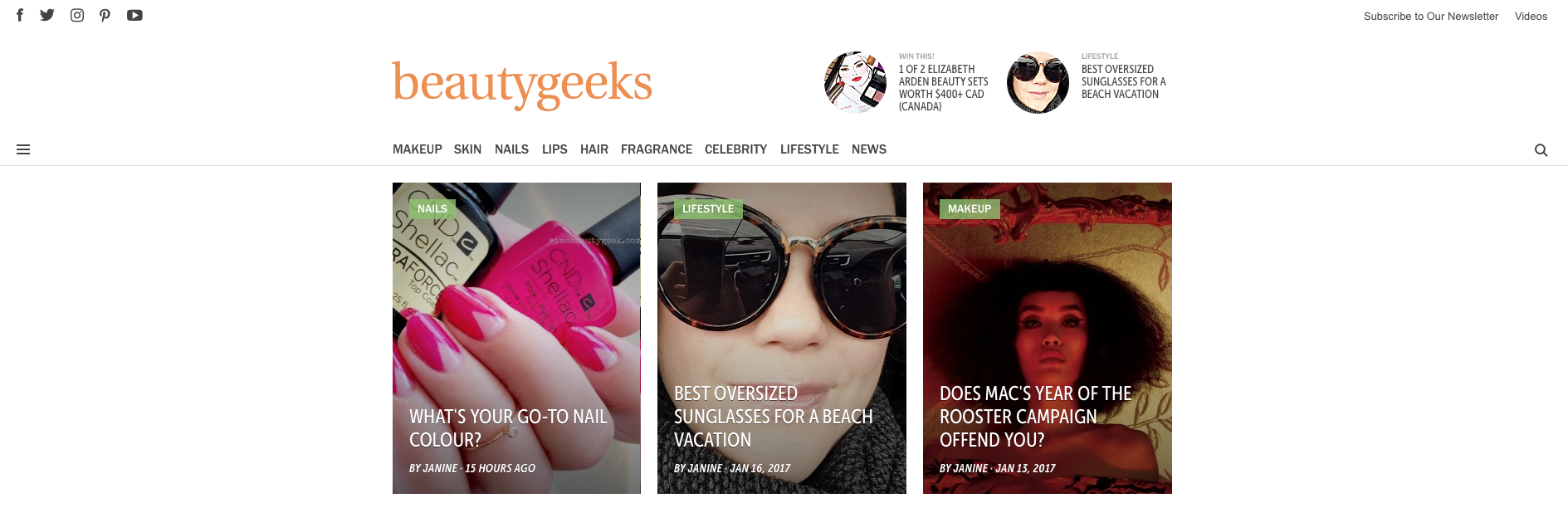 Beautygeeks, one of our fave Canadian beauty blogs
