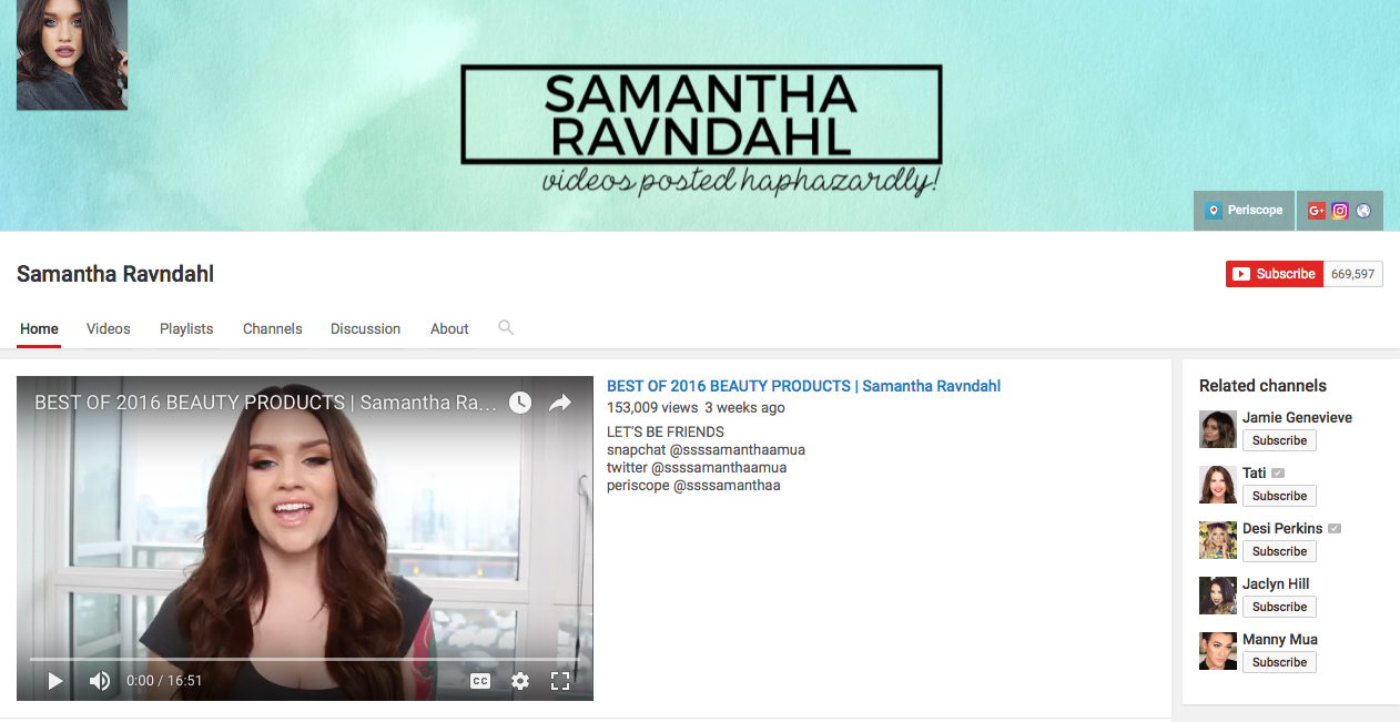 Samantha Ravndahl, one of our fave Canadian beauty blogs