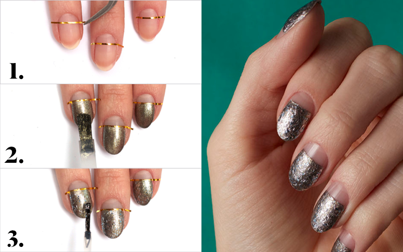 Easy how-to nail art negative space