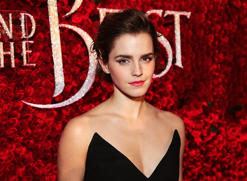 Emma Watson at the Beauty and the Beast screening