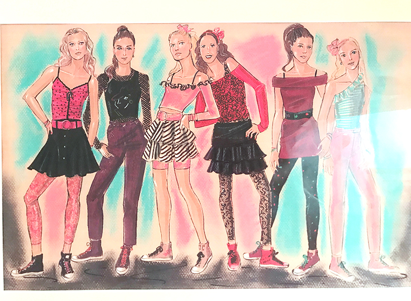 13 going on 30: framed illustration of the six chicks.