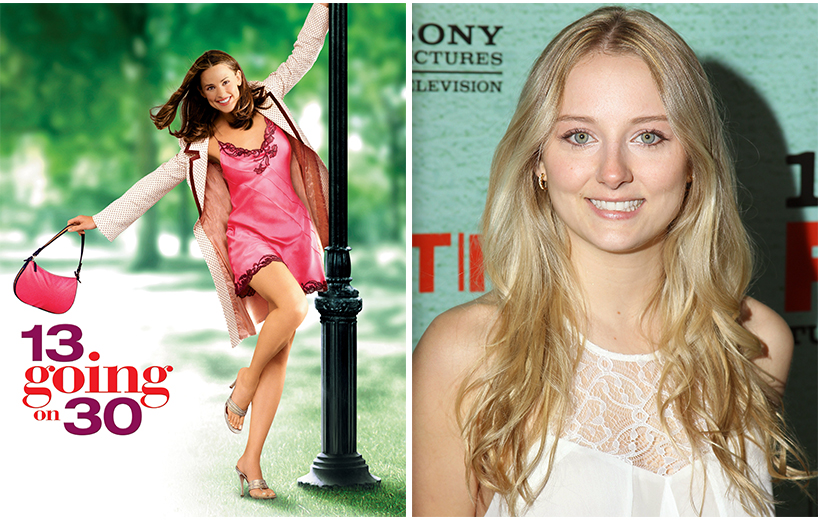 13 Going on 30: A poster from a film and a headshot of Alexandra Kyle.