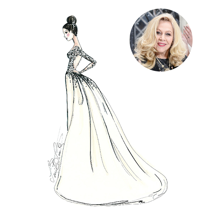 Ines Di Santo sketches a dress for Pippa Middleton's wedding