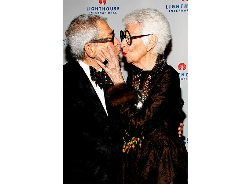 Iris Apfel with her late husband, Carl Apfel