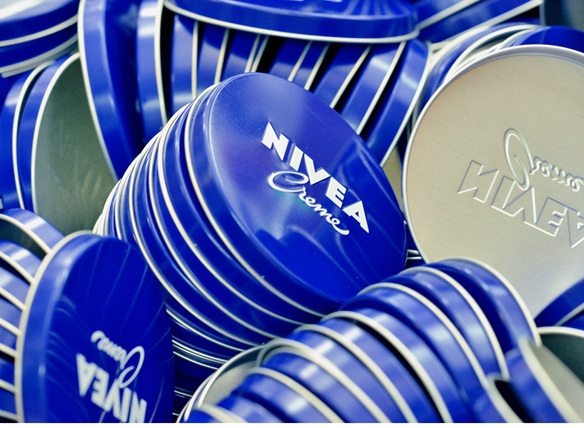 Nivea campaign: A few iconic jars of nivea.