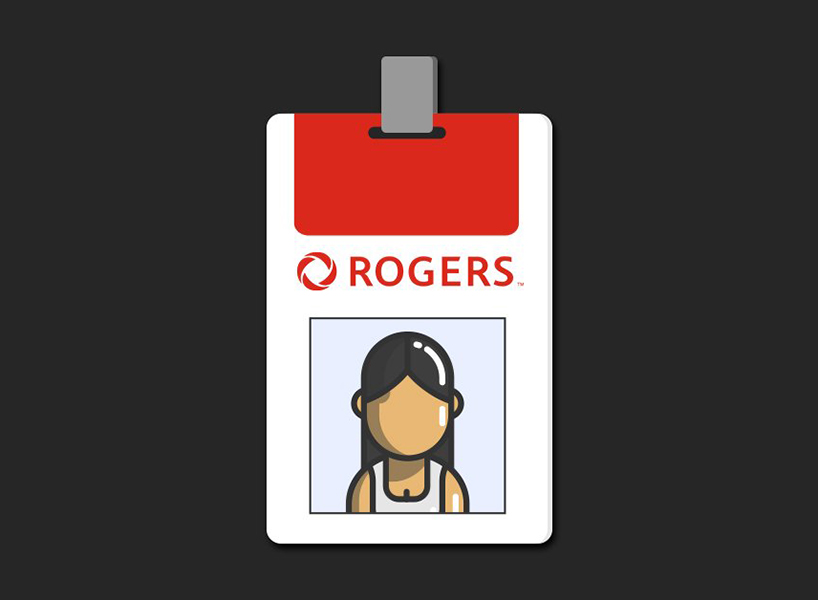 Appropriation Prize: a photo of a Rogers ID badge with a woman of colour on the photo card