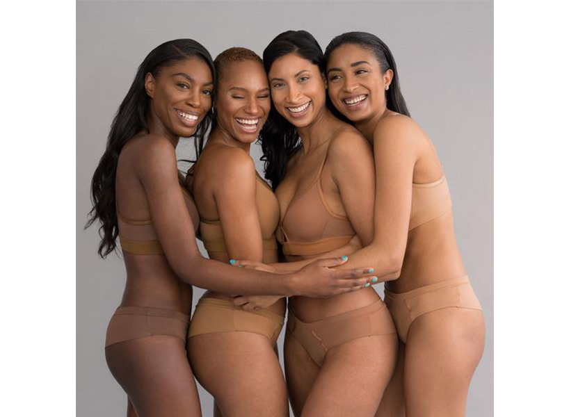 Love & Nudes: four women modelling Love & Nudes latest collection.