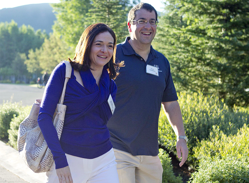 Sheryl Sandberg and Dave Goldber