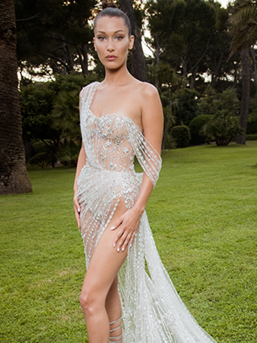 Bella Hadid was one of the celebs at amfAR Gala at Cannes 2017