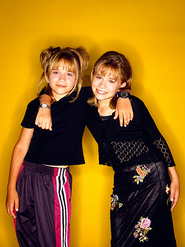 Mary-Kate and Ashley Olsen in the 90s