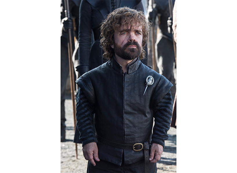 Tyrion looking offscreen in the Game of Thrones